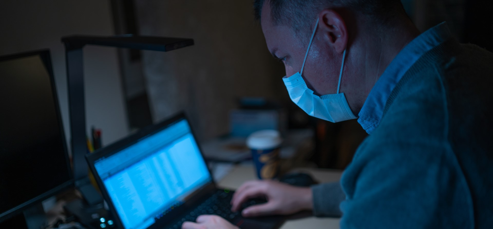 a man deal with cyber security during covid-19