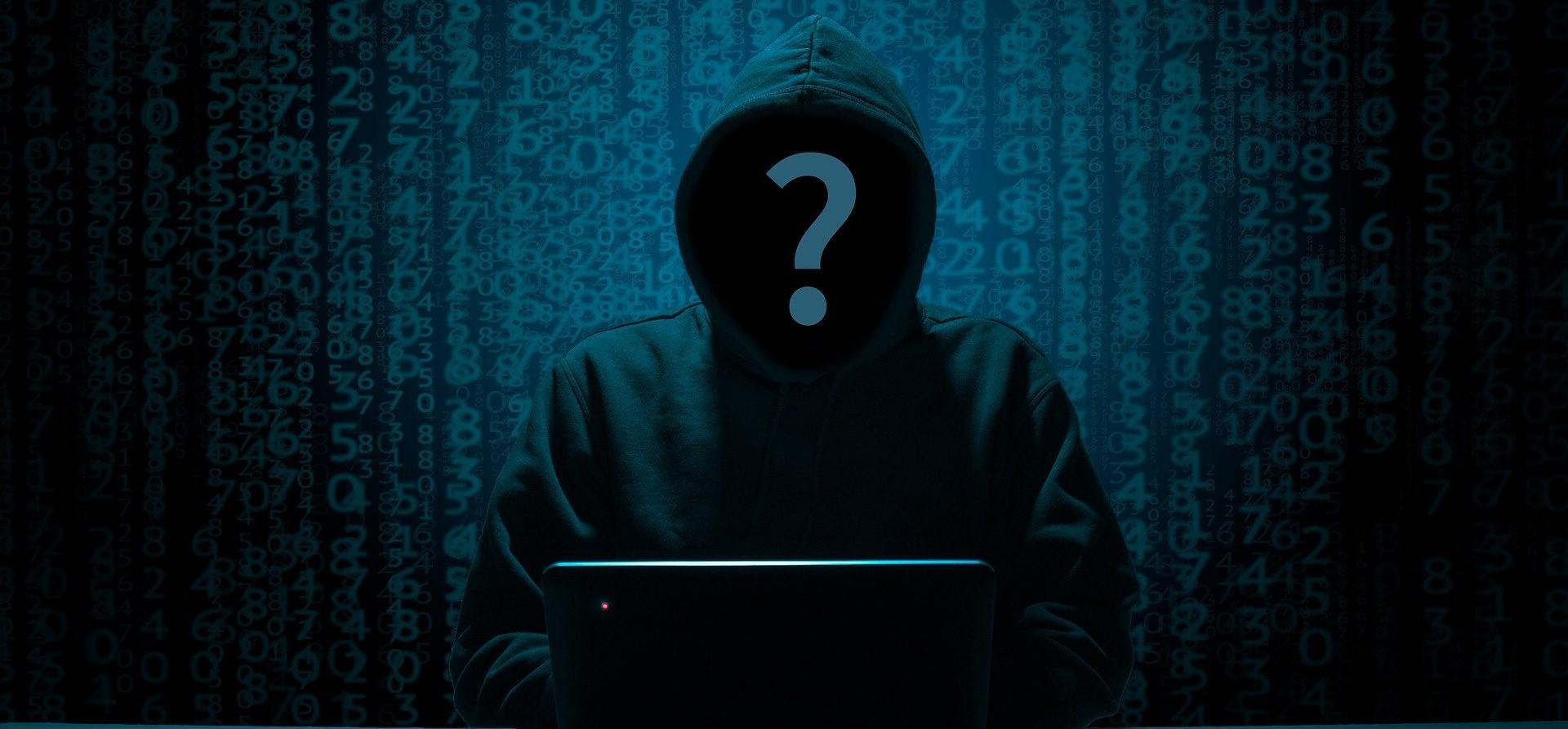 hacker is dealing with cyber risk